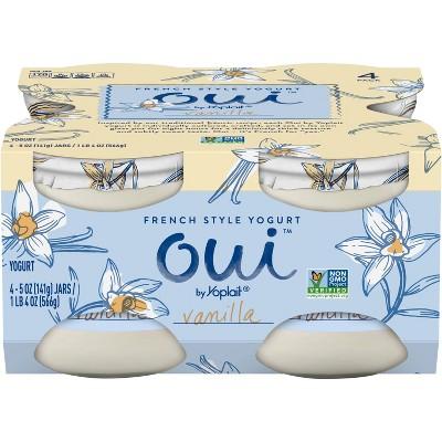 Oui by Yoplait Vanilla Flavored French Style Yogurt - 4ct/5oz Jars