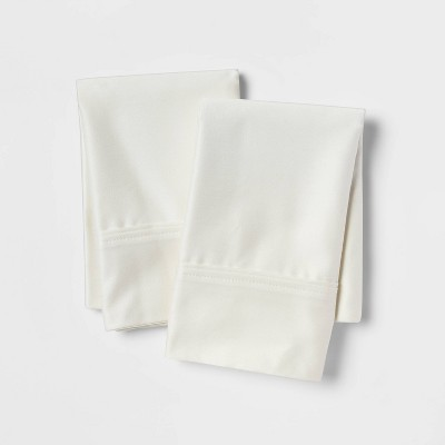Standard 400 Thread Count Solid Performance Pillowcase Set Sour Cream - Threshold™