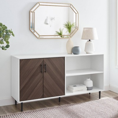 "Angelo Modern 2 Door Bookmatch TV Stand for TVs up to 65"" - Saracina Home"