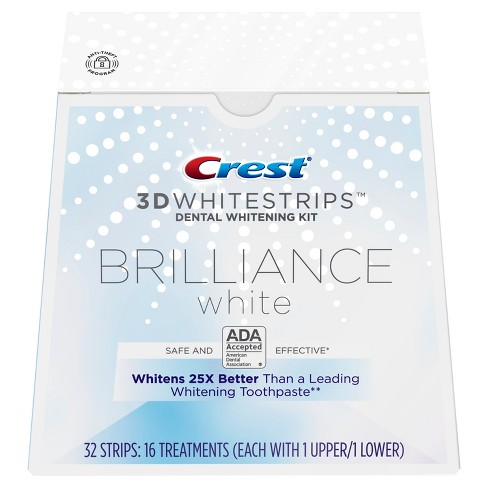 Crest 3D Whitestrips Brilliance White Teeth Whitening Kit - 16ct - image 1 of 7
