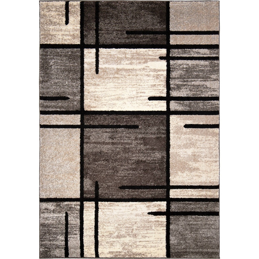 Sterling Gray Solid Woven Area Rug - (7'10
