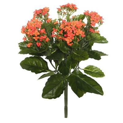"Artificial Kalanchoe Bush (17.25"") Orange - Vickerman"