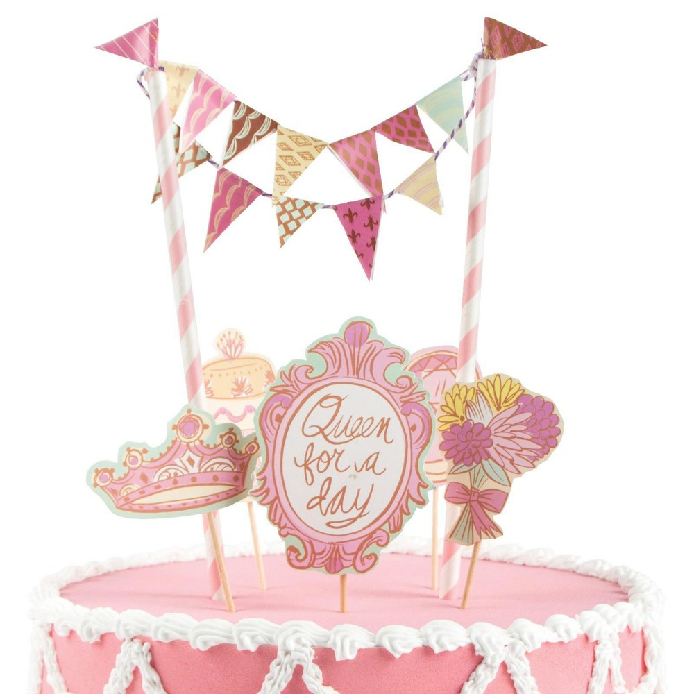 Queen For A Day Cake Decoration Topper, Multi-Colored