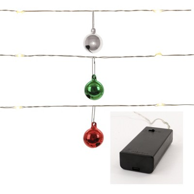 Philips 30ct Christmas LED Dewdrop Garland Lights Jingle Bells Battery Operated Warm White SW