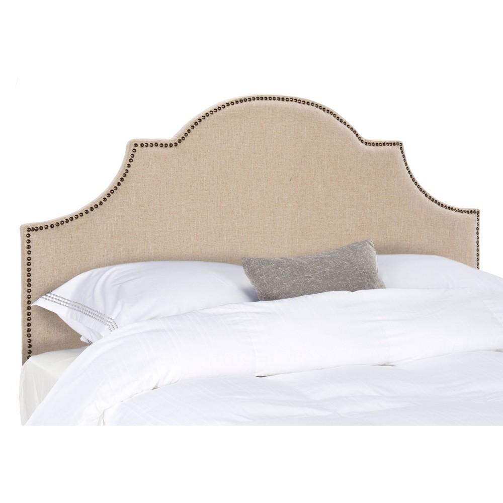 Hallmar Arched Headboard - Hemp / Brass (Queen) - Safavieh