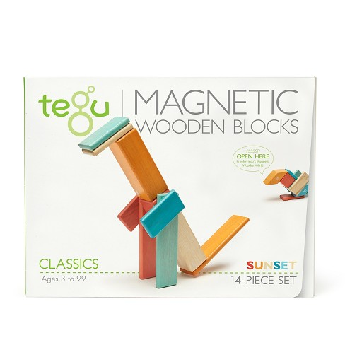 Tegu Magnetic Wooden Block Set in Sunset 14-Piece - image 1 of 6