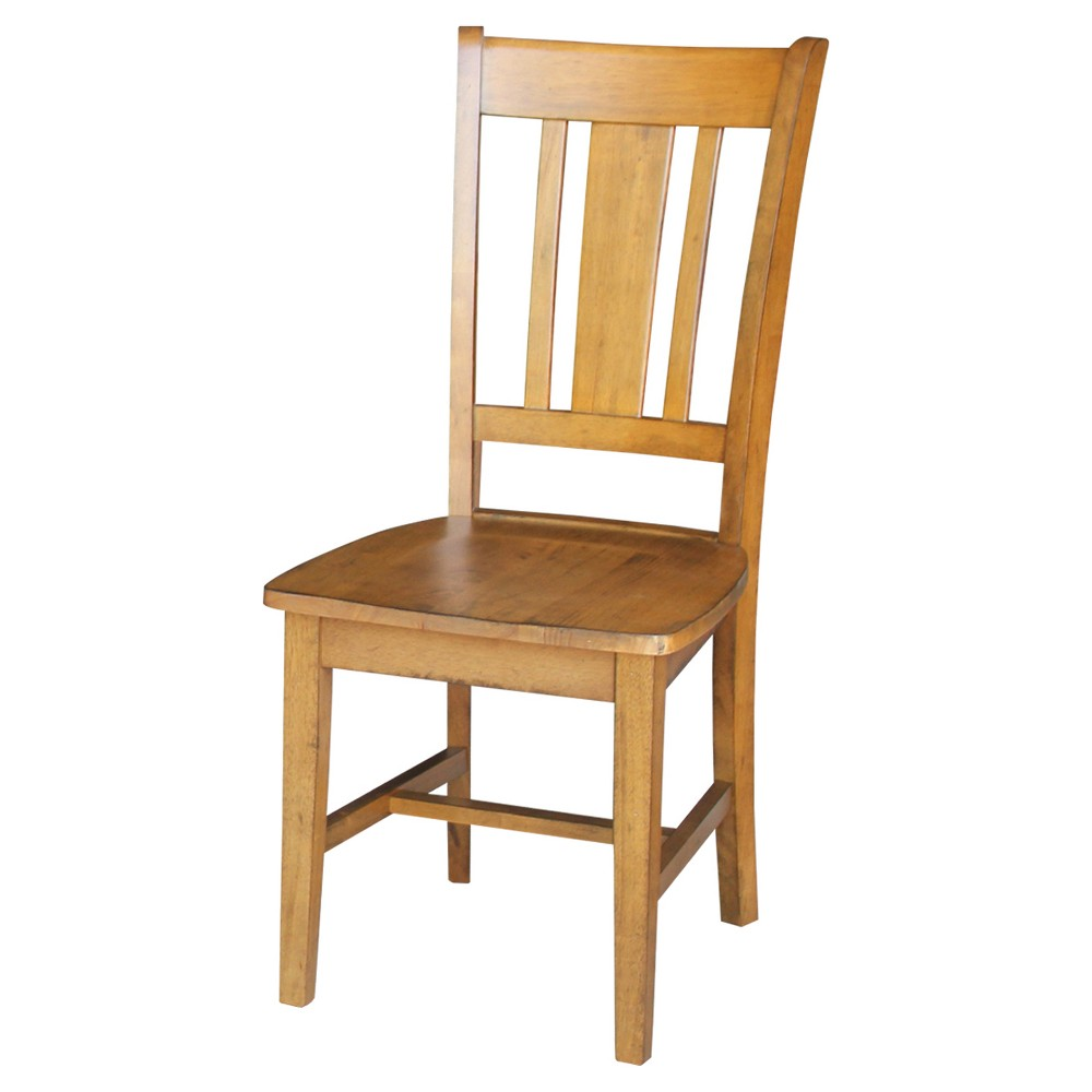 San Remo Splatback Chair (Set of 2) - Pecan - International Concepts