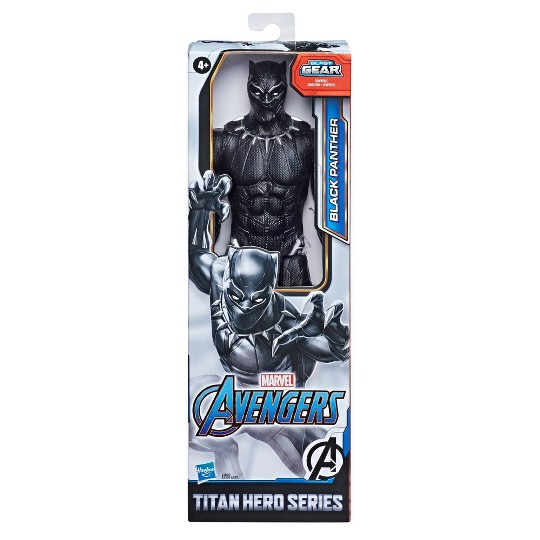 Marvel Avengers Titan Hero Series Blast Gear Black Panther Action Figure image number null