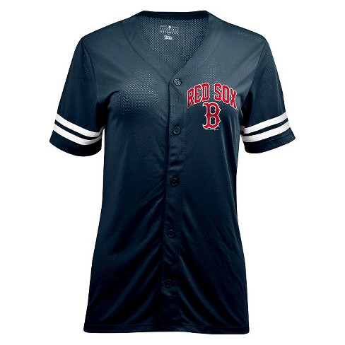 Boston Red Sox Women s Button-Up Jersey L   Target 1ae14afafd