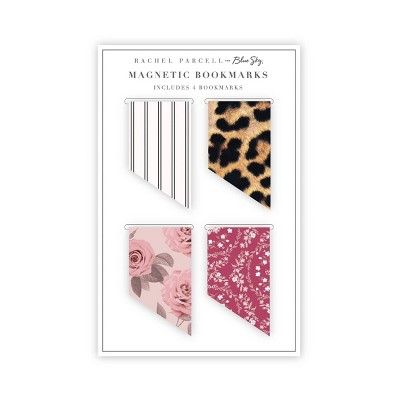 4pk Magnetic Bookmarks - Rachel Parcell by Blue Sky