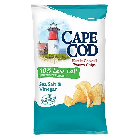 Cape Cod® Kettle Cooked Potato Chips - Sea Salt And Vinegar (8oz) - image 1 of 1