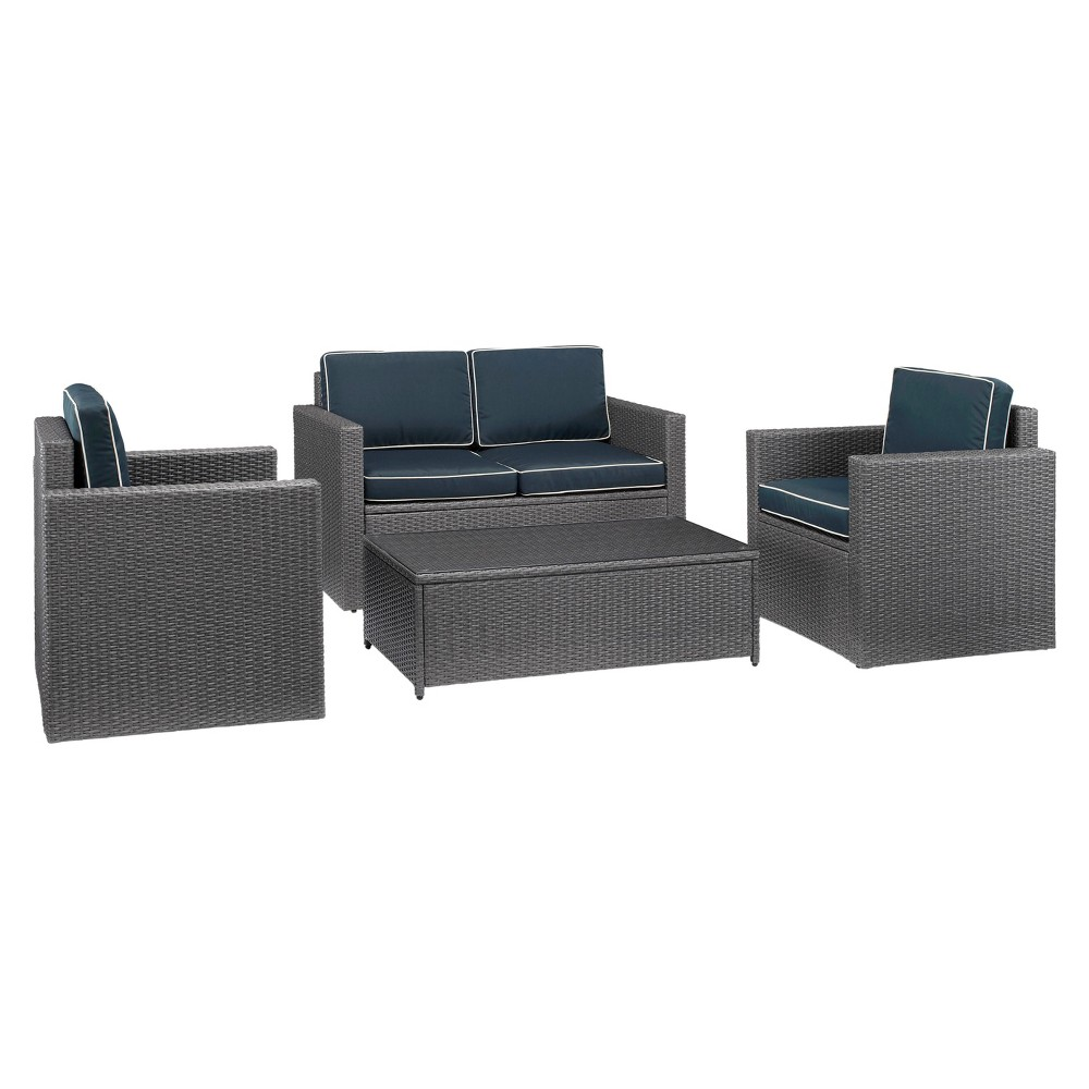 Palm Harbor 4pc All-Weather Wicker Patio Seating Set - Gr...