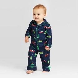 Toddler Holiday Car Pajama Set - Wondershop™ Navy