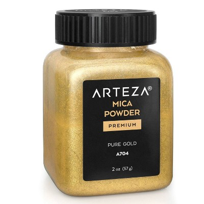 Arteza Mica Powder 57g, Single Color, Pure Gold  - A704 (ARTZ-3500)