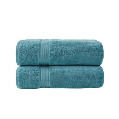 2pc Cotton Bath Sheet Set Aqua