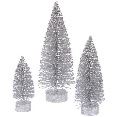 Vickerman Glitter Tree Set Tabletop Artificial Christmas Tree