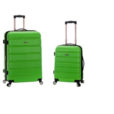 Rockland Expandable 2pc Spinner Luggage Set - Green