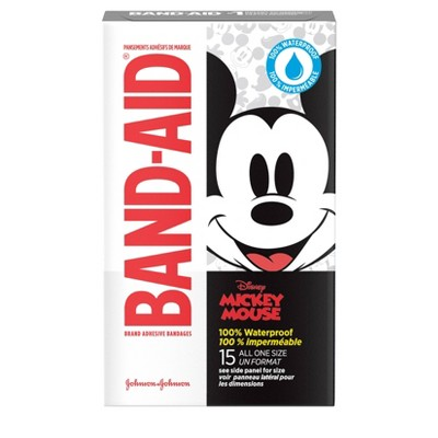 Band-Aid Disney Mickey Mouse Waterproof Bandages - 15ct