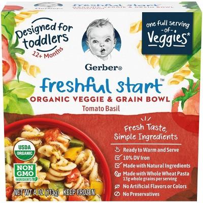 Gerber Freshful Start Frozen organic Veggie and Grain Bowl Tomato Basil - 4oz