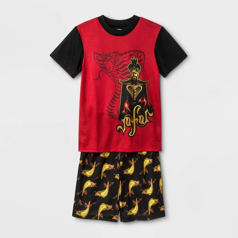Boys' Aladdin 2pc Pajama Set - Black/Red - image 1 of 1