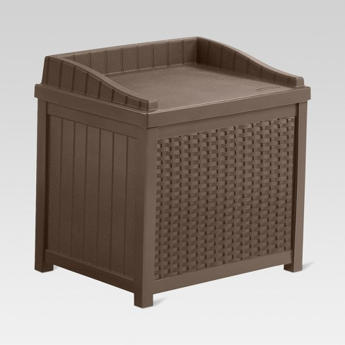 Resin Wicker Storage Seat 22 Gallon - Suncast - image 1 of 4