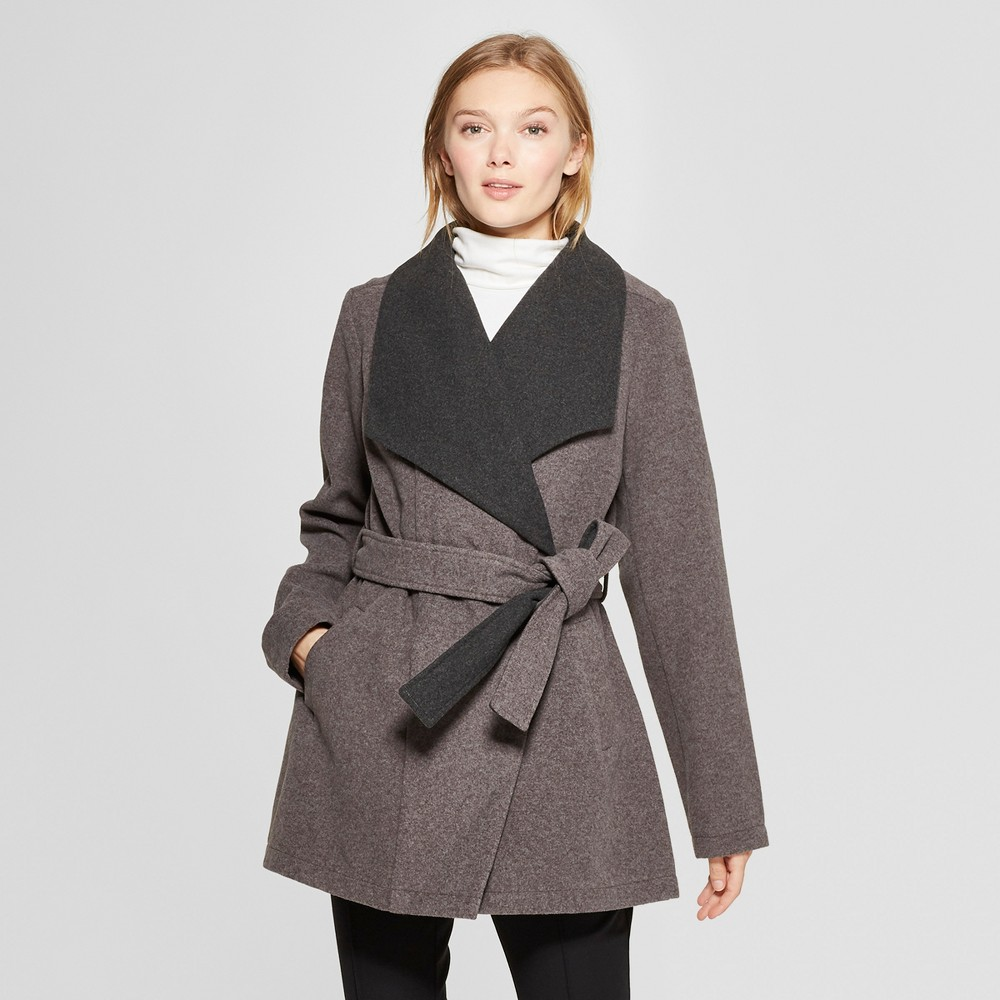 Women's Wrap Coat - A New Day Gray XL