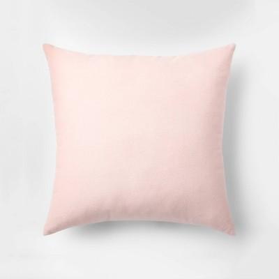 Velvet Square Throw Pillow Blush - Room Essentials™