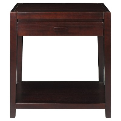 Nightstand with Usb Port - Espresso - Flora Home