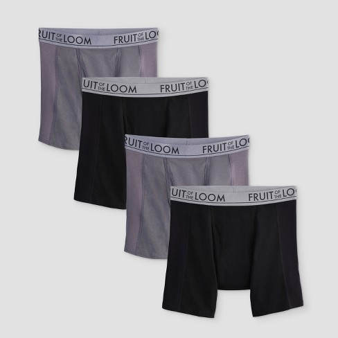 Fruit of the Loom Men's Select Ultra Flex Boxer Briefs 4pk - Black/Grey - image 1 of 3