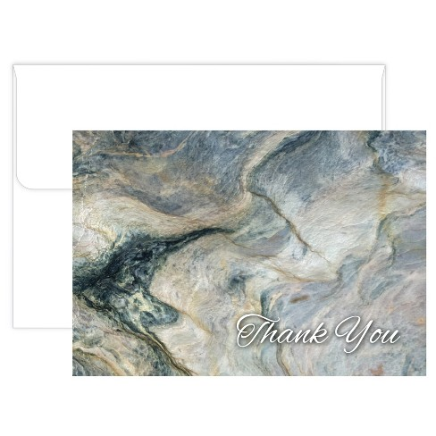 50ct Black Marble Thank Card Pack - image 1 of 1