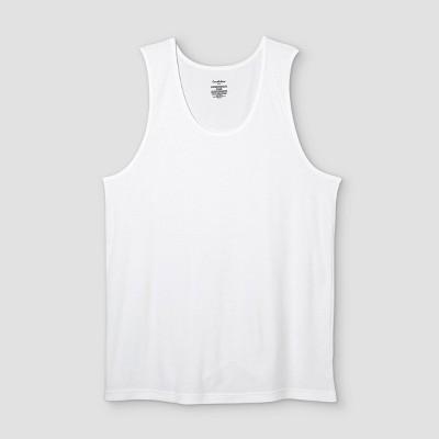 Men's Big & Tall 4pk Tank Top - Goodfellow & Co™ White