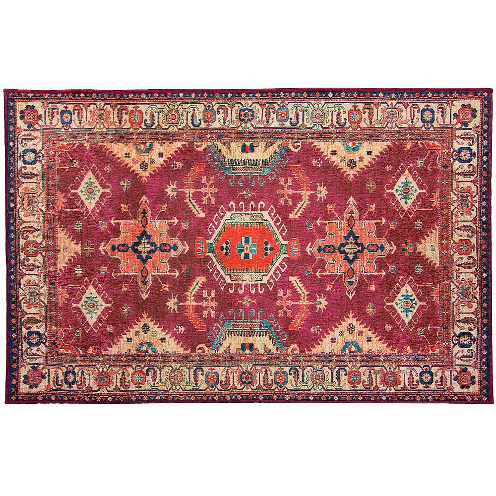Image of 3'x5' Noor Rug Ruby - Ruggable, Size: 3'x5', Red