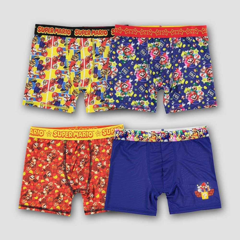 Boys 39 Super Mario 4pk Underwear 6