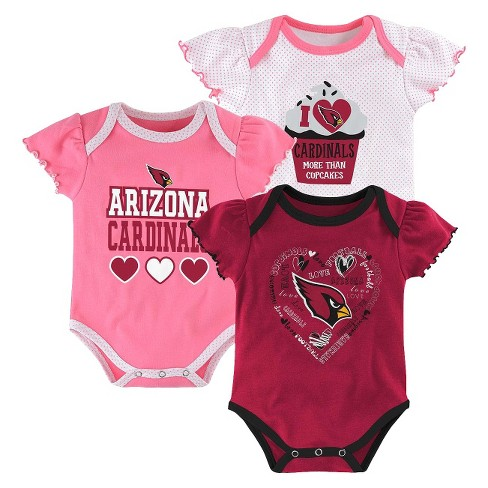 Arizona Cardinals Girls 3-Pack Body Suit - image 1 of 4