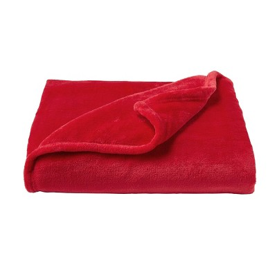 Oversized Microfiber Velvet Solid Polyester Throw Blanket - Yorkshire Home