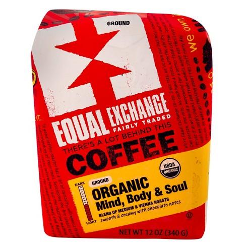 Equal Exchange Organic Mind, Body, & Soul Medium Roast Ground Coffee - 12oz - image 1 of 1