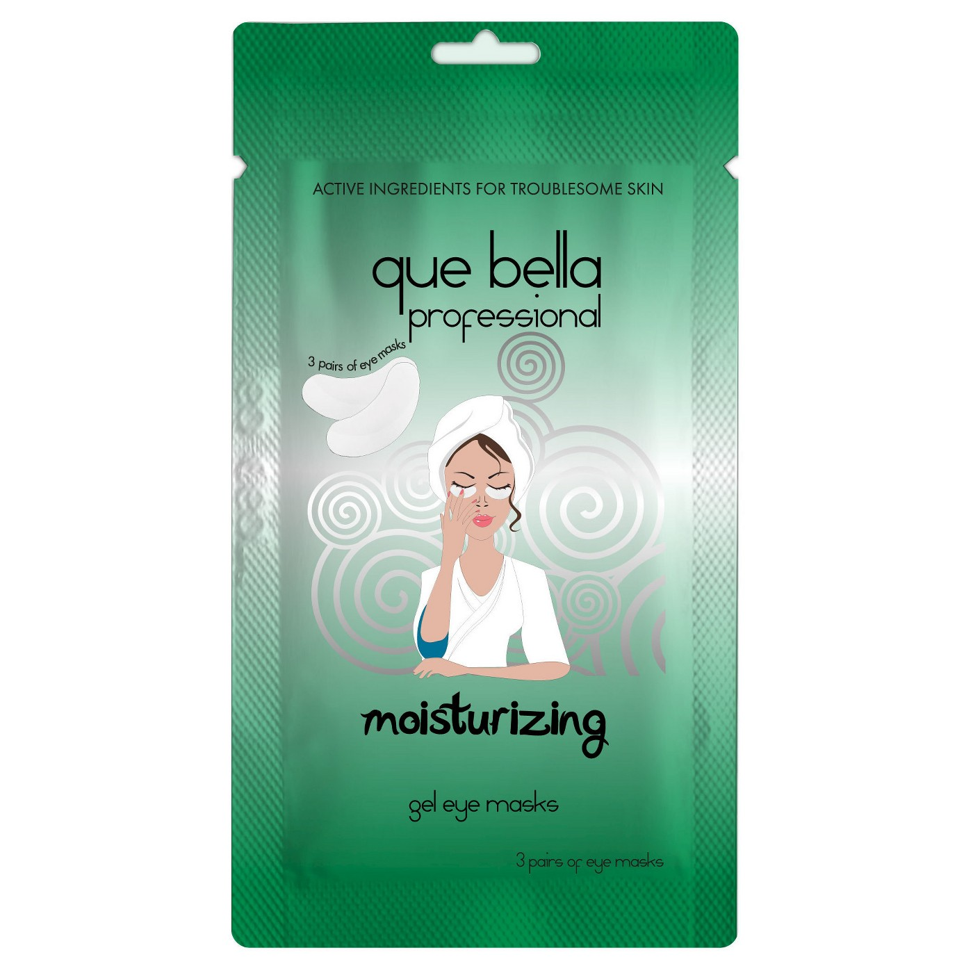 Que Bella Professional Moisturizing Gel Eye Masks - 3 pairs - image 1 of 3
