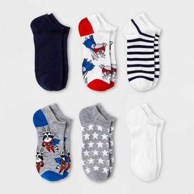 Women's Sparkly Superhero Critters 6pk Low Cut Socks - Xhilaration™ Heather Gray 4-10