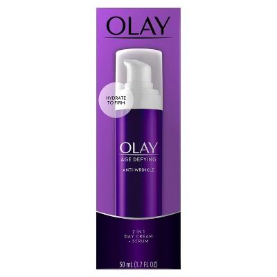 Olay Age Defying 2-in-1 Anti-Wrinkle Day Cream + Serum - 1.7oz