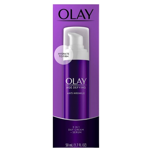 Olay Age Defying 2-in-1 Anti-Wrinkle Day Cream + Serum - 1.7 oz - image 1 of 3
