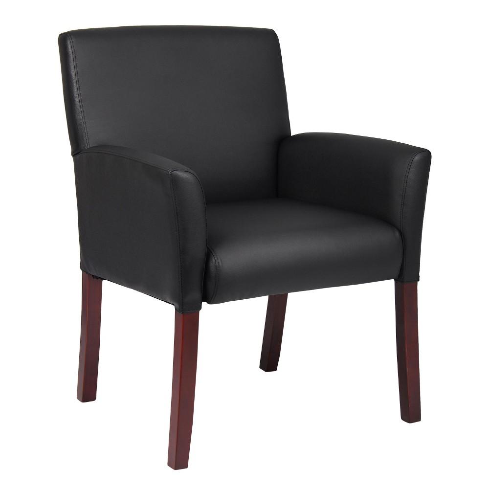 Box Arm Guest Chair - Black - Boss