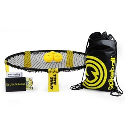 Spikeball Combo Meal Set with 3 balls and Backpack Roundnet - Yellow/Black