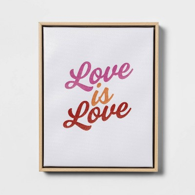 """8""""x10"""" Love is Love Framed Wall Canvas - Pride"""