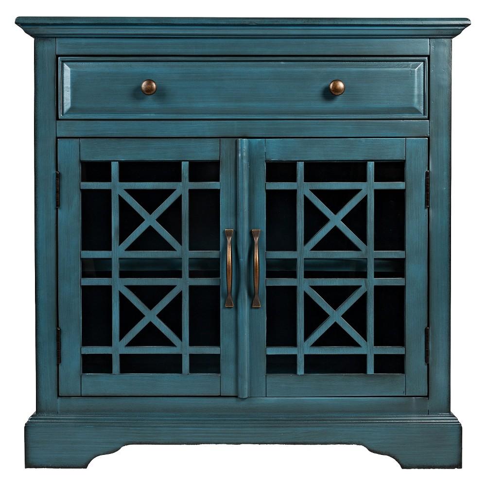 "Image of ""Jofran Craftsman 32"""" Accent Chest- Antique Blue"""