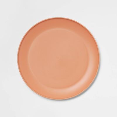 "10.5"" Plastic Dinner Plate Orange - Room Essentials™"