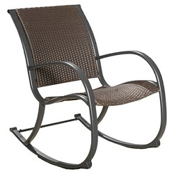 Peachy Gabriela Outdoor Rocking Wicker Chair Brown Abbyson Uwap Interior Chair Design Uwaporg