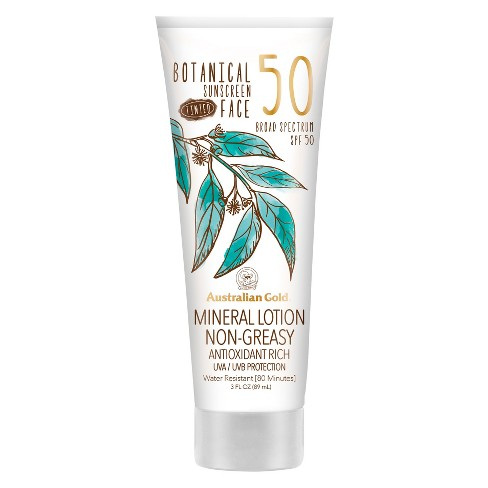 Australian Gold Botanical Mineral Sunscreen Tinted Face Sunscreen Lotion - SPF50 - 3oz - image 1 of 3