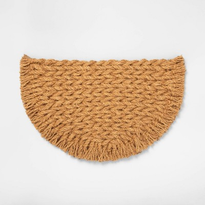 Half Circle Braided Coir Doormat - Hearth & Hand™ with Magnolia