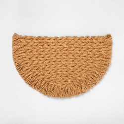 Half Circle Braided Coir Mat - Hearth & Hand™ with Magnolia
