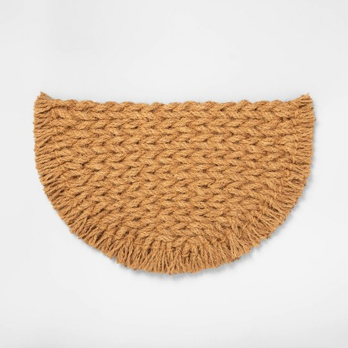 Half Circle Braided Coir Doormat - Hearth & Hand™ with Magnolia - image 1 of 2